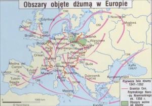 dżuma Europa