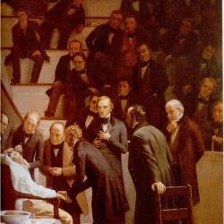 1846, William Morton dokonuje znieczulenia eterem